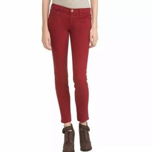 Current/Elliot The Ankle Skinny in Tibetan Red